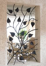 wrought iron window aperture panel home decor pinterest