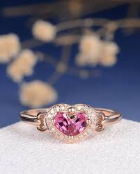 love rings pink images Antique pink tourmaline ring pear shaped engagement ring rose gold jpg