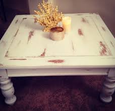 antique white distressed coffee table coastal chic coffee table furniture flip white paint distressed