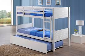 Bunk Beds With Trundle Bed Jupiter White Single Bunk Beds With Trundle Bed