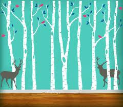 Forest Nursery Wall Decals by Aliexpress Com Buy Vinyl Tree Wall Decals 260x360cm Reindeer