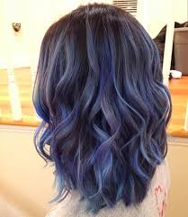 best hair color for deep winters image result for high shine petrol blue balayage hair