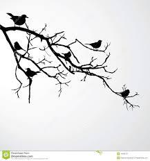 birds on branch stock illustration illustration of background