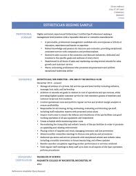 esthetician resume exles fashioned overview for resume motif documentation template
