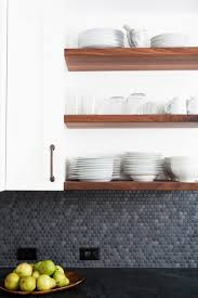 28 creative penny tiles ideas for kitchens digsdigs penny tiles in various shades of grey for a moody kitchen