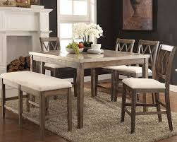 Acme Dining Room Sets by Counter Height Set W Marble Top Table Claudia By Acme Ac71720set