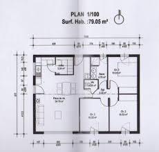 plan maison 80m2 3 chambres plan maison 80m2 madame ki