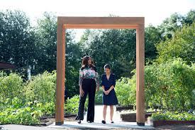 first lady michelle obama dedicates white house kitchen garden and