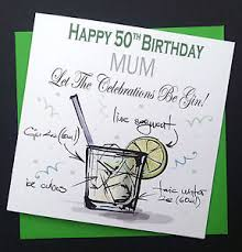 handmade funny gin lovers birthday card mum dad auntie uncle 40th