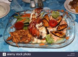 seafood platter san pedro ambergris caye la isla bonita