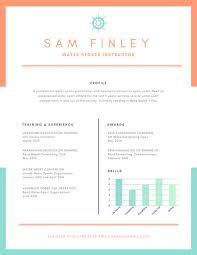 sports resume template orange nautical water sports resume templates by canva