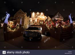 brooklyn ny usa december 19 2015 christmas decorations with