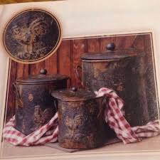 primitive rooster canister set canisters products and primitives