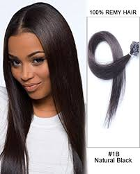 strand by strand hair extensions 14 1b black flat tip 100 remy hair flat pre