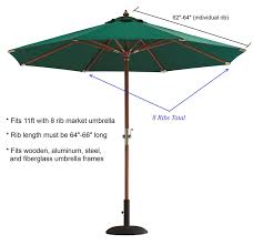 Replacement Canopy by Formosa Covers Replacementcanopy 11x8taupe Replacement Umbrella