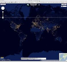 World At Night Map by The U201cblack Marble U201d City Lights At Night Cimss Satellite Blog