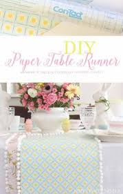 how to make table runner at home paper table runner diy easy craft project paper table easy and craft