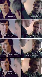 Funny Sherlock Memes - that s a lousy conversation starter oh is it jpegy what