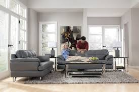 Leather Sofa In Living Room Gray Sofa In Living Room Livegoody