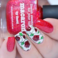 what do guys think of red nail polish water nail polish design