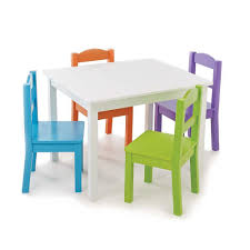 tot tutors table and chair set tot tutors white table with 4 vivid colors chair set toysrus