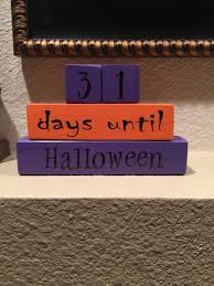 halloween wood blocks countdown to halloween wood blocks from ashtonandashley on etsy studio
