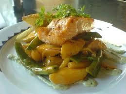 cuisine sucré salé recette sucré salé de saumon à la mangue cuisine facile et recette