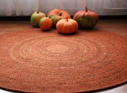 Fruit Rugs Made To Order Large Crochet Round Rug Beautiful Orange