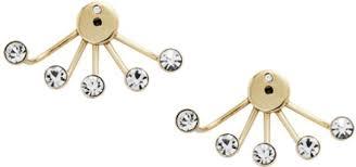 stainless steel stud earrings fossil women s stainless steel stud earring jf02393710 price