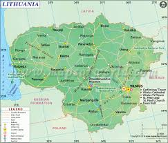 Map Of Germany And Poland by Lithuania Map Map Of Lithuania