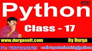 online tutorial of python learn python programming tutorial online training by durga sir on 22