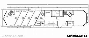 horse trailer living quarter floor plans charger 8 ft wide 4 horse slant gn with 15 ft living quarters