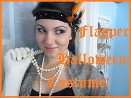 last minute 20 u0027s flapper halloween costume make up u0026 hair youtube