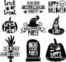 happy halloween vector vintage happy halloween logo with decoration pumpkin zombie hand