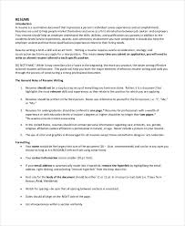 resume document format resume format 23 free word pdf documents free