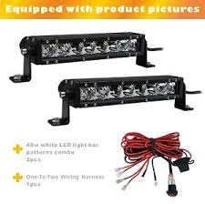 led equipped light bar 2pcs 9inch 40w single row spot beam led light bar 1set one to two