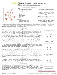 no days adhesives fused glass snowflake ornament project sheet