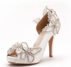 wedding shoes peep toe 7cm heels peep toe wedding shoes butterfly bridal shoes wedding