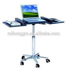 adjustable movable laptop table adjustable rolling portable mobile computer notebook desk stand