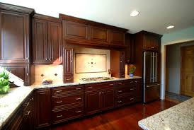 kitchen casual l shape large kitchen decoration with cherry wood