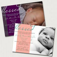 baby dedication blessing christening invitation boy or