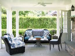 Cushions For Wicker Patio Furniture Black Wicker Patio Furniture With Blue Cushions And Blue Chevron