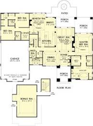 i like this floor plan because the master suite is separated and i
