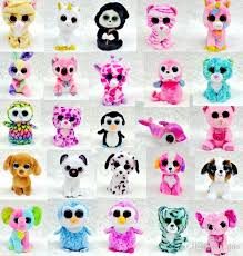 2017 ty beanie boos plush stuffed toys big eye animals soft dolls