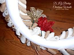 burlap christmas burlap christmas wreath abc creative learning sugar bee crafts