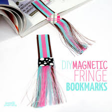 How To Make Magnetic Jewelry - diy fringed magnetic bookmarks moms and crafters
