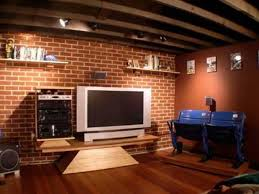 brick wall panels with retro interior livingroom barn home with
