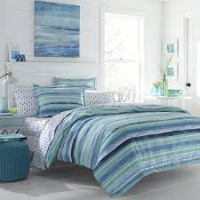 Poppy Bedding Poppy And Fritz Alex Blue Cotton Comforter Set Free Shipping
