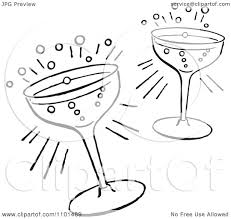 cocktail drawing clipart retro black and white cocktail glasses royalty free