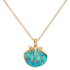 necklace pendant shell images Mermaid glitter shell pendant necklace claire 39 s us jpg